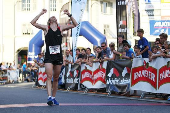 Philippe Linder, Halbmarathon Sieger bei den Männern. (Bild: Philipp Schmidli / Neue LZ)