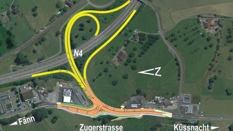 KÜSSNACHT: A4-Anschluss wird bis 2019 umgestaltet