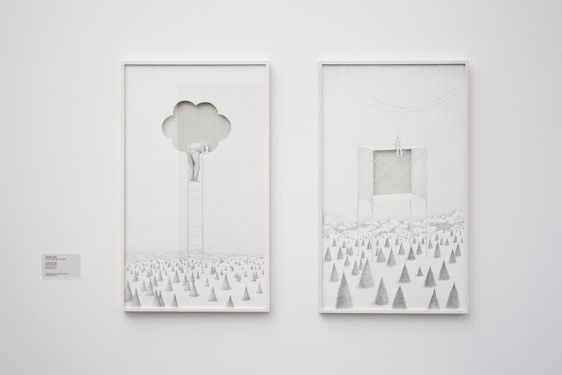 Werke von Benedikt Notter. (Bild: Manuela Jans / Neue LZ)