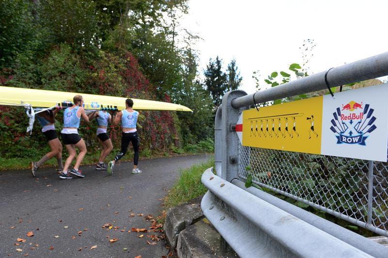 21 Achterboote nehmen am Xrow Rennen von Zug nach Luzern teil. (Bild: Dominik Wunderli / Neue LZ)