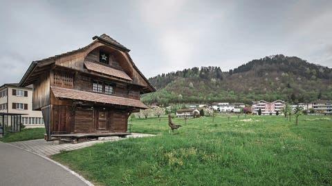 Der vom Volk abgelehnte Verkauf des Grundstücks Spychermatte (im Bild) bereitet Wikon finanzielle Sorgen. (Bild: Pius Amrein, 11. April 2017)