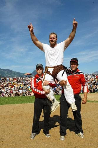 Benji von Ah - der Sieger des Kantonalschwingfestes. (Bild: André A. Niederberger/Neue NZ)