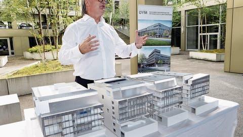 Baubeginn des SportzentrumsbeimLorzenpark
