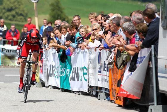 Endspurt: Mathias Frank spurtet auf Platz 3. (Bild: Philipp Schmidli/Neue LZ)