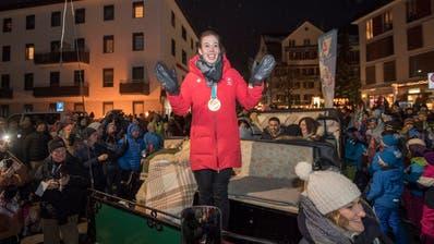 OBWALDEN: 1500 Engelberger empfangen ihre Olympia-Stars