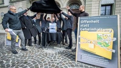 4268 UNTERSCHRIFTEN: Kanton Thurgau: Initiative für ein Öffentlichkeitsgesetz eingereicht