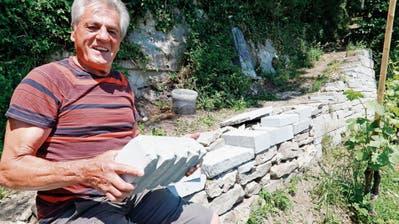 LANGFINGER: 300 Kilo Steine geklaut
