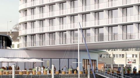So könnte das Hotel am Romanshorner Hafen aussehen