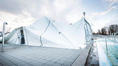 ROMANSHORN: Nach Sturmschäden: Genossenschaft macht Traglufthalle sicherer