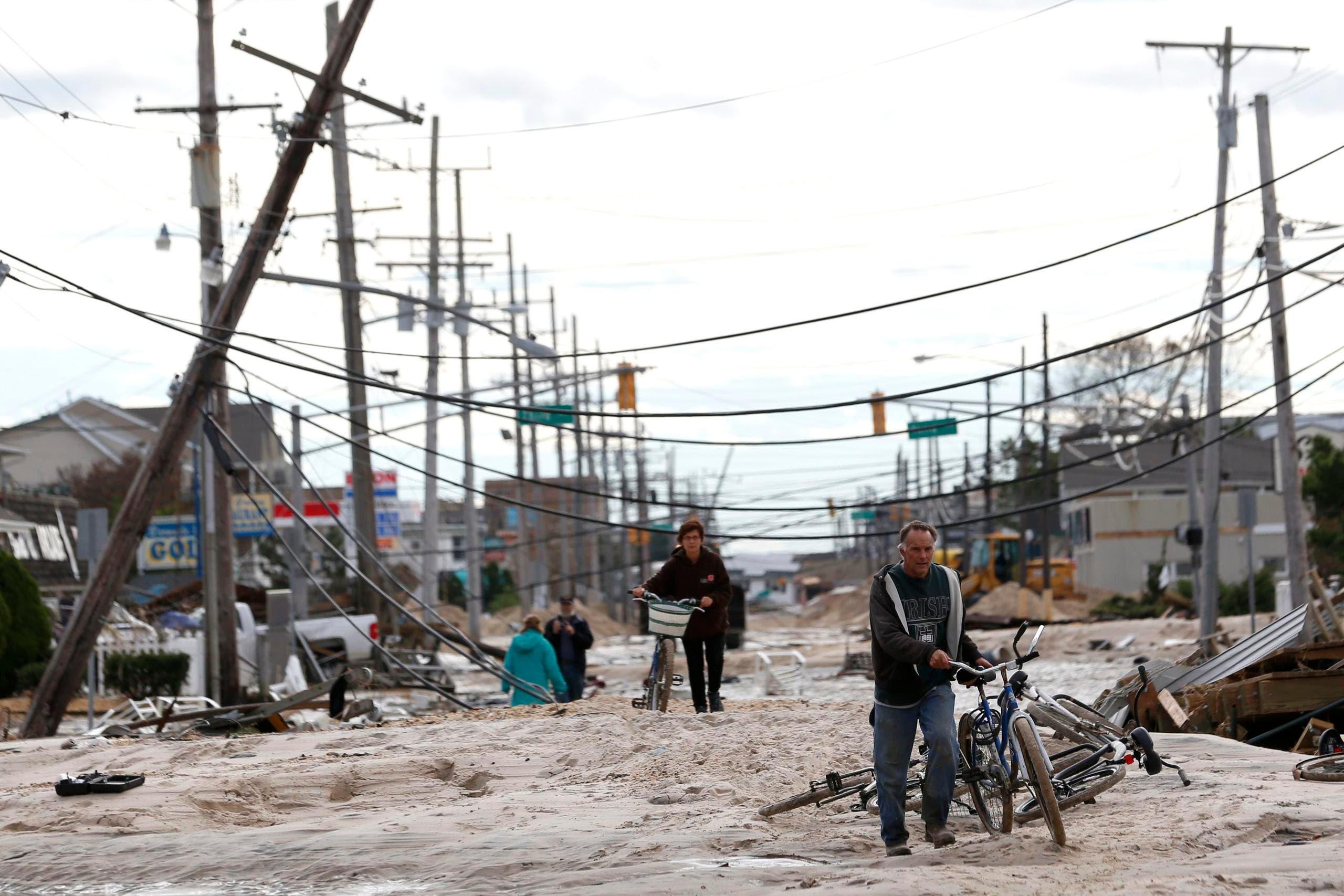 Der Supersturm Sandy richtete massive Schäden an der Infrastruktur an. (Bild: Keystone)
