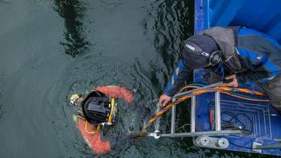 RORSCHACH: Vier Stunden arbeiten bei vier Grad unter Wasser