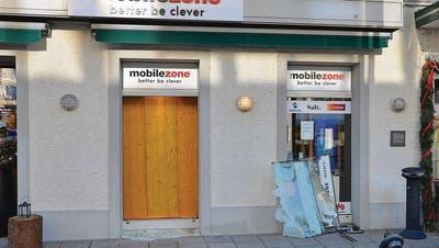 Mobilezone: Mit Axt eingebrochen