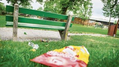 LITTERINGKOSTEN AUF THURGAUS KANTONSSTRASSEN: Achtlosigkeit wird auf der Wiese sichtbar