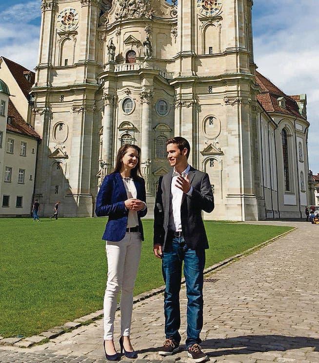 Führen die kantonale JSVP im Co-Präsidium: Manuela Ronzani aus St. Gallen und Sascha Schmid aus Grabs. (Bild: pd)