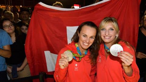 Silber für das Tennis-Duo Hingis/Bacsinszky