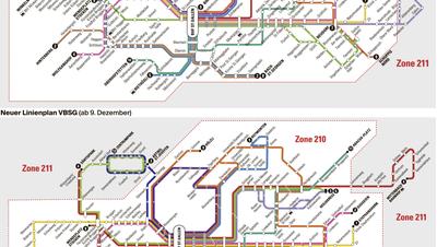 BUSKONZEPT: So sieht das neue VBSG-Netz aus