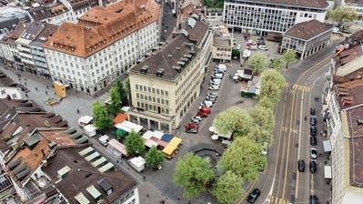 ST.GALLEN: Die Parkplätze am Marktplatz bleiben vorerst