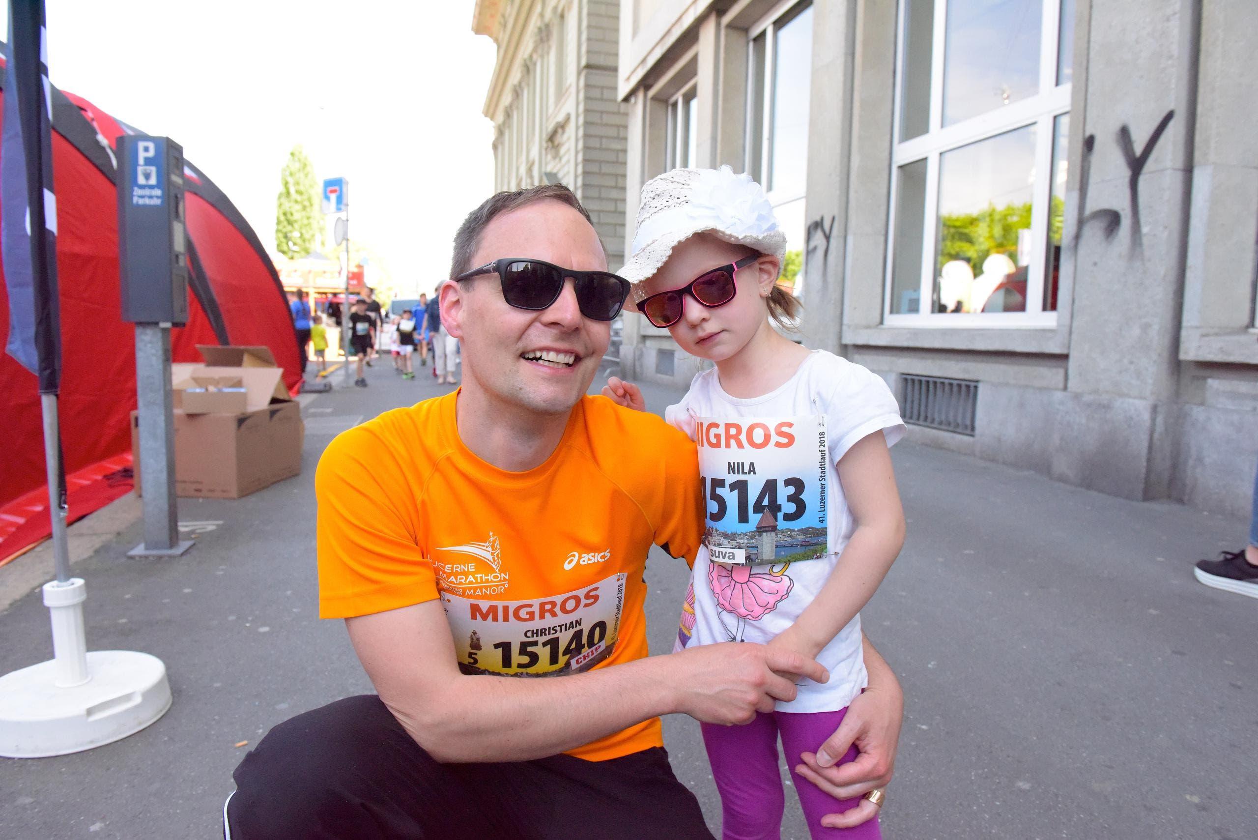 Christian Vogel mit Nila, Ruswil Startnummer 15 140,zum 41. Stadtlauf: «Wir sind top vorbereitet. Es kann losgehen.» (Bild: LZ)