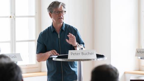 Der Wirtschaftsbeauftragte Peter Bucher am Landenbergforum. (Bild: Roger Zbinden, 6. Mai 2018)