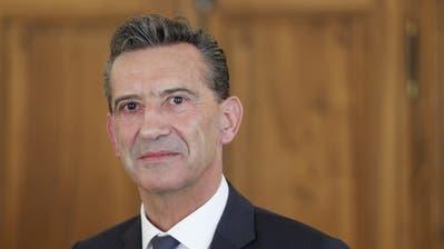 Landammann Beat Jörg sprach sich klar für das Geldspielgesetz aus, über das am 10. Juni abgestimmt wird. (Bild: Florian Arnold, April 2018)
