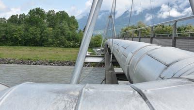 Das Fernwärmenetz Schaan wird über die bestehende Energiebrücke erschlossen. (Bild: Thomas Schwizer)