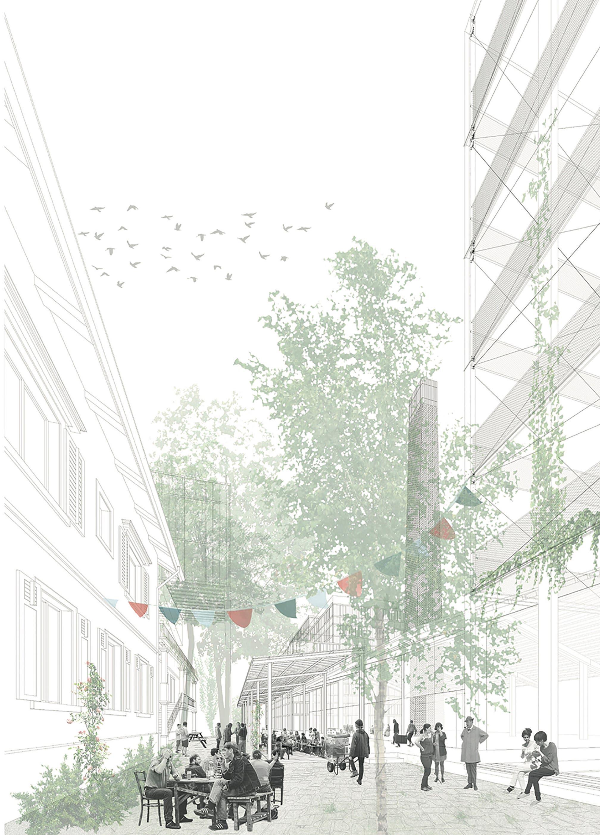 Das Siegerprojekt «Mon oncle» von Rolf Mühlethaler Architekt BSA SIA mit Architekturhistoriker Christoph Schläppi, beide aus Bern...