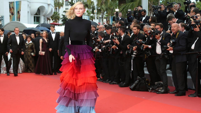 Jury-Präsidentin Cate Blanchett läuft in Cannes über den roten Teppich         (Photo by Joel C Ryan/Invision/AP)