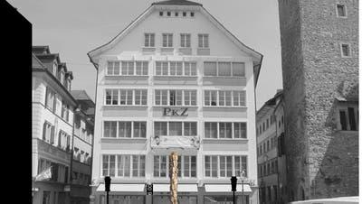 So soll der geplante Maskenbrunnen auf dem Kornmarkt in der Stadt Luzern aussehen. (Bild: Visualisierung/PD)