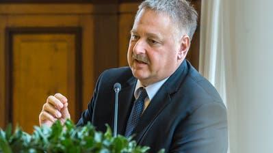 Carlo Parolari (FDP) während einer Sitzung des Thurgauer Kantonsparlaments. Als Kantonsrat und Fraktionschef seiner Partei wird er aufgrund seiner neuen Position zurücktreten. (Bild: Reto Martin)