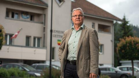 Urs Vollenwyder, Gemeindepräsident von Gettnau. (Bild:Dominik Wunderli, 11. Juni 2018)