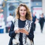 Model Manuela Frey in New York. (Bild: Michael Stewart/Getty Images)