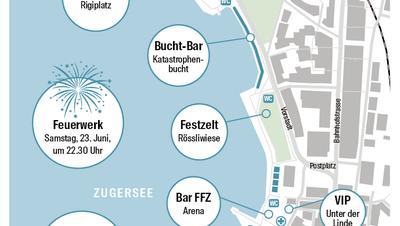 Das Zuger Seefest findet erstmals über zwei Tage statt– Was wo läuft