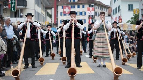 Festumzug des des letzten Zentralschweizerisches Jodlerfest Schüpheimim Jahr 2016. (Bild: Pius Amrein, 26. Juni 2016)