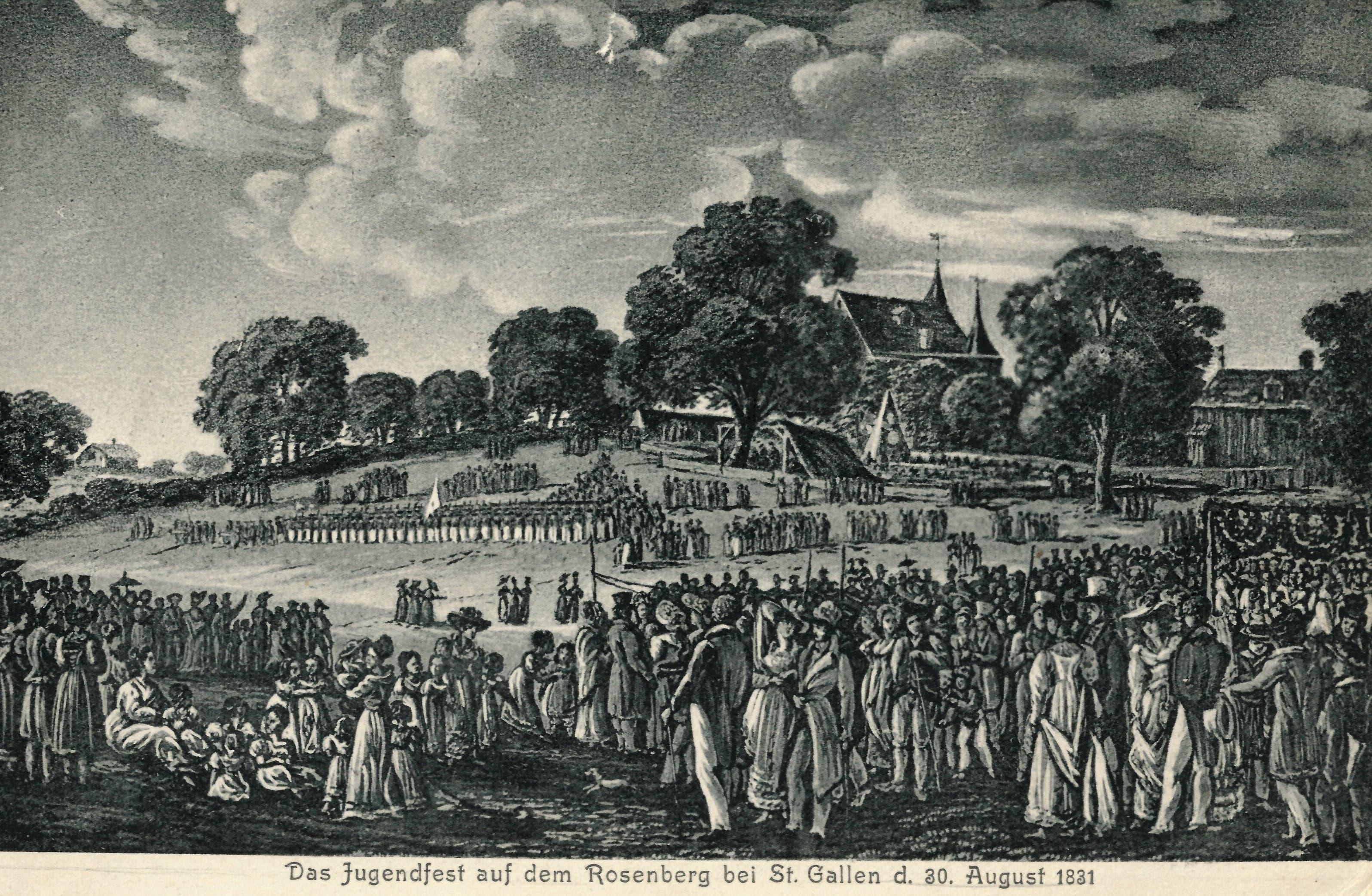 Das St.Galler Kinderfest in der Ausgabe von 1831. (Bilder: Sammlung Reto Voneschen)