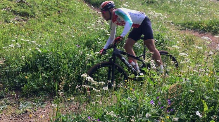Zu Besuch beim ersten Training der Ostschweizer Mountainbiker auf der WM-Strecke