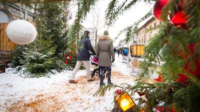 Der Weihnachtsmarkt Stärnäzauber auf dem Boulevard in Kreuzlingen. (Bild: Andrea Stadler)