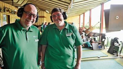 OK-Präsident Bruno Lüscher und Standchefin Marianne Bösch im Sirnacher Schützenhaus Hochwacht. (Bilder und Video: Olaf Kühne)