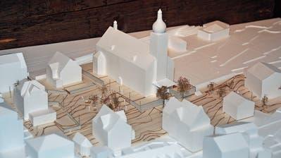 Das Modell des Siegerprojekts Cubiculum. Dieses und die übrigen fünf eingereichten Projekte sind im Sigristenhaus zu sehen. (Bilder: Matthias Piazza (Hergiswil, 21. Juni 2018))
