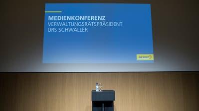 Vor knapp zwei Wochen informierte die Post über die Details im Postauto-Skandal.Bild: Peter Schneider/Keystone (Bern, 11. Juni 2018)