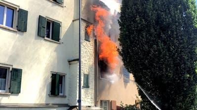 Schwierige Löscharbeiten beim Brand in Rorschach.