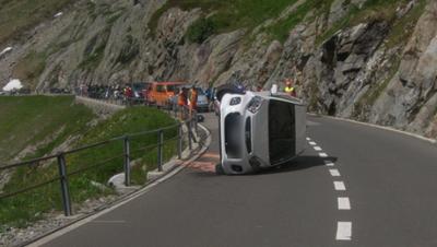 Die Unfallstelle bei Wassen (Bild: Kantonspolizei Uri)