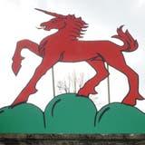 Das Einhorn desGachanger Wappens. (Bild: Nana do Carmo)