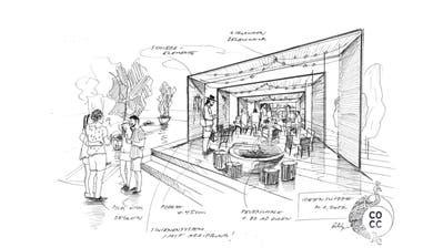 Die Skizze des Siegerprojekts «Altstadtgarten». (Bild: PD)