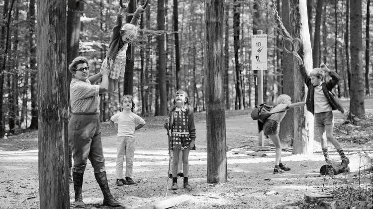 Vor 50 Jahren ins Leben gerufen: Vitaparcours beim Zoo Zürich. (Bild: Str/Keystone (Zürich, 24. August 1968))
