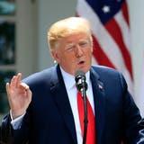 Donald Trump bei einer Medienkonferenz im Garten des Weissen Hauses. (Bild: Manuel Balce Ceneta/AP Photo (Washington, 7. Juni 2018))