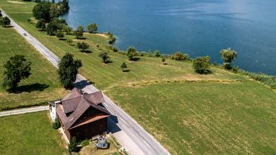 Entlang des Baldeggersees soll ein Seeuferweg entstehen. Auf dem Bild zu sehen ist der Abschnitt im Bereich Tempikon in Blickrichtung Retschwil.Bild: Pius Amrein (11. Juli 2018)