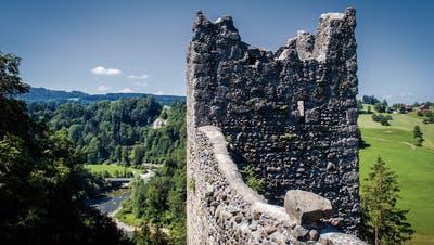 Die Häggenschwiler Ritterburg verwittert