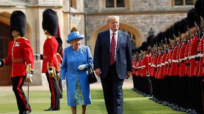 Queen empfängt US-Präsident Trump und First Lady Melania