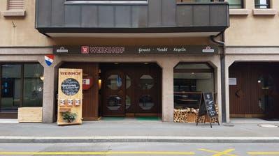 Das Restaurant Weinhof an der Weystrasse 12 in Luzern, kurz nach der Eröffnung im vergangenen Herbst. (Bild: Ramona Geiger (Luzern4. September 2017))