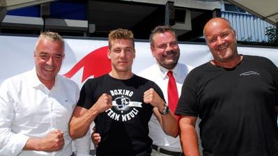 Sie freuen sich auf den Spitzenkampf: Markus Schefer, Zino Meuli, Andy Anderegg und Marcel Wick. (Bild: Kurt Peter)